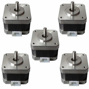 5pcs 42shd0001 24 Stepper Motors Kit 12v For Cnc 3d Printer 26ncm 0 4a Sale