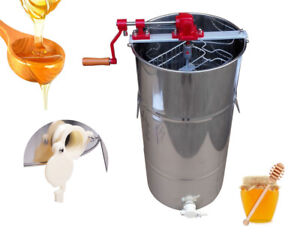 2 Frame Ss Honey Extractor Beekeeping Equipment Large Stainless Steel