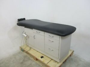 Biotec Black Vinyl Biottec N7620 Medical Table For Patient Exams Fully Tested