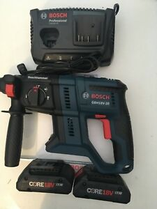 Bosch Gbh18v 20n 18v 3 4 In Sds plus Rotary Hammer Kit W 2 Core 4 ah Batteries