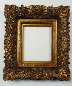 Picture Frame 8x10 Vintage Antique Style Ornate Baroque Bronze Gold Brown 256g