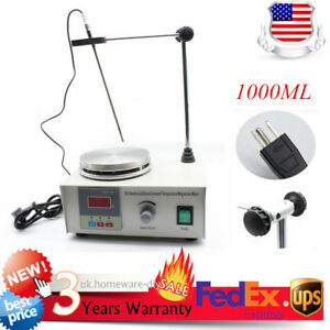Magnetic Stirrer With 200w Heating Plate Hotplate Mixer Digital Display 1000ml