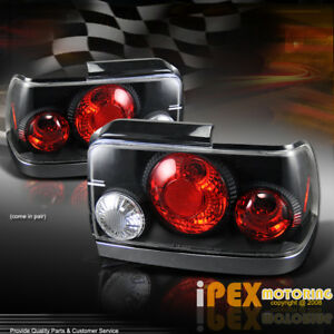 For 1993 1997 Toyota Corolla Jdm Black Tail Lights Lamps with Bulbs