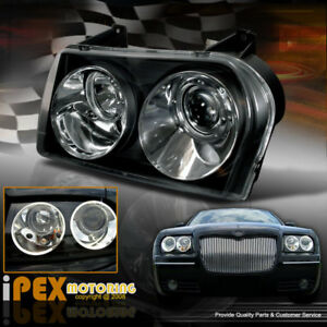 2004 2010 Chrysler 300 Limited Touring Sedan Projector Black Headlights Headlamp