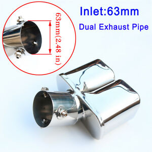 Auto Parts 63mm 2 5 Inlet Universal Exhaust Pipe Rear End Tail Silencer Cover