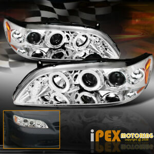 For New For 98 02 Honda Accord Bright Glow Halo Projector Led Headlights Chrome