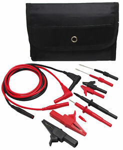 Us Th 6 kit Automotive Test Lead Probes Kit Pins Alligator Clip Multimeter Meter