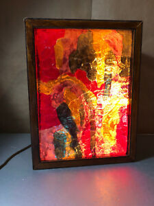 60s 70s Vintage Light Box Psychedelic Homemade Wood Box Trippy Light Show