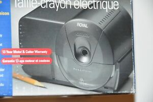 Brand New Old Stock Royal Electric Pencil Sharpener P25 Heavy Duty Steel Blades