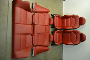 Bmw E46 M3 Imola Red Leather Seats Front Rear Seat Set Coupe Oem 2001 2006