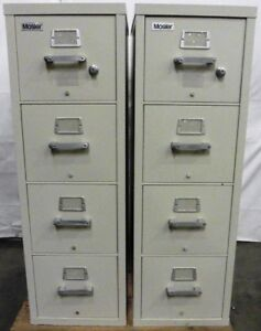 G154684 Lot 2 Mosler 4 drawer Fire Resistant File Cabinets