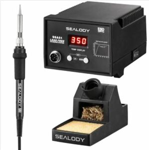 Digital Lead Free Soldering Station Pure Aluminum Stand Tip Cleaning Wire Nib