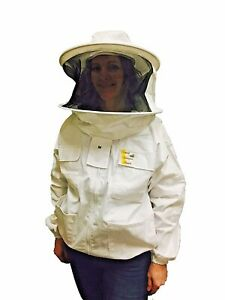 Beekeeper Cotton Jacket With Veil Protective Clothing Us Seller