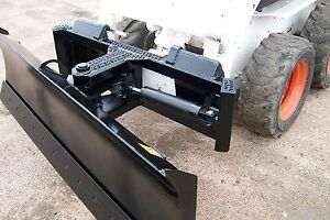 New Heavy Duty 78 Inch Four Way Dozer Blade For Skid Steer Snow Plow Fits Bobcat