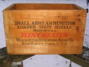Vintage Winchester Repeating Arms CO. 12 Ga.Shotgun Wood Ammo Box Crate