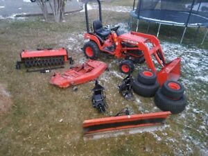 Got Snow Kubota Bx2200 4x4 Tractor Loader Mower Plow Blade Broom Quick Hitch