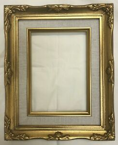 Picture Frame 5x7 Vintage Antique Style Baroque Gold Ornate Linen W Glass B8g