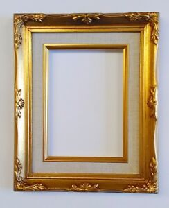 Picture Frame 8x10 Vintage Antique Style Baroque Gold Ornate Linen W Glass B8g