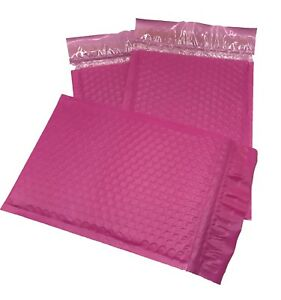 250 0 6x10 Poly Pink Envelopes Bubble Mailers Padded Case Supplies 6 x10