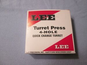 Lee Turret Press 4-Hole Quick Change Turret New in Box