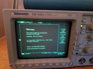 Tektronix Tds430a Digitizing Oscilloscope 2ch 400mhz 100ms s
