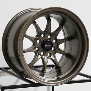 15x8 Vors Tr3 4x100 4x114 3 0 Bronze Wheels Rims Set 4
