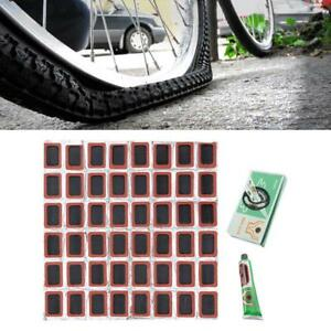 48pcs Tire Repair Patch Rubber Fetal Bicycle Cold Glue Bicycle Tool Set