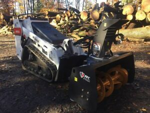 2018 Bobcat Mt85 Mini Skidsteer W brand New Ffc Paladin 48 Snow Blower 2409