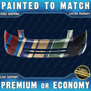 New Painted To Match Front Bumper Replacement For 2008 2009 2010 Honda Accord V6