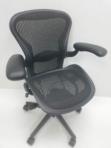 Herman Miller Aeron Size B Black Fully Adjustable W lumbar Refurbished2 Like New
