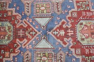 3 9 X 10 Geometric Genuine S Antique Persian Tribal Wool Rug Hand Knotted Runner