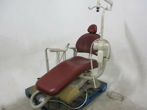 Used Adec Performer Red Dental Furniture Exam Chair W Delivery System