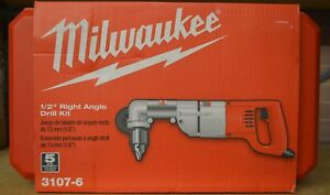 Milwaukee 3107 6 Corded Heavy Duty Right Angle Drill Kit In Hard Case
