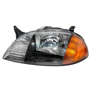 New Left Headlamp Unit Fits 1998 2001 Chevrolet Metro Gm2502166