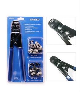Efield Crimpers Pex Cinch Clamp Crimping Tool For Clamps Sizes 3 8 To 1 With