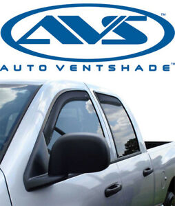 Avs 194806 In channel Ventvisor Window Deflector Smoke 2019 2020 Ram 1500 Crew