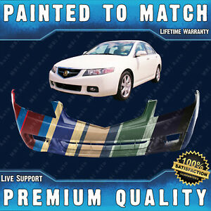 New Painted To Match Front Bumper Cover For 2004 2005 Acura Tsx Sedan 4dr 04 05