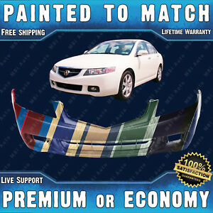 New Painted To Match Front Bumper For 2004 2005 Acura Tsx 2 4l I4 Sedan 04 05