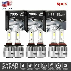 Combo 9005 9006 H11 3900w 585000lm Led Headlight Fog Kit High low Beam 6000k Usa