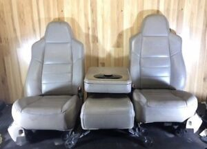 2001 2004 Ford F250 F350 Lariat Front rear Seats Tan Leather Freight Ship