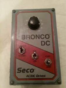 Seco Bronco Ii Model 163 Dc Drive Speed Controller Free Shipping