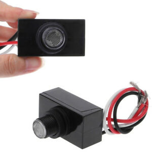 2 Outdoor Electric Resistor Photocell Light Control Sensor Switch Jl103a Us Ship