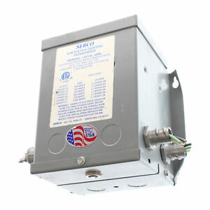 Sebco 1023 12 Low Voltage Lighting Transformer 120v Input 12vac 150w Out