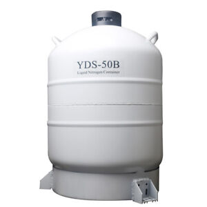 50l Liquid Nitrogen Storage Tank Static Cryogenic Container With Straps M