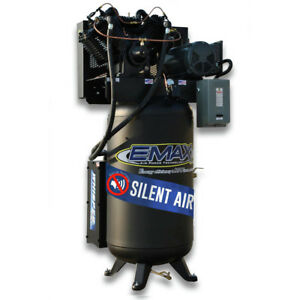 Emax Es07v080v1 7 5 Hp 80 Gal Vertical Stationary Electric Air Compressor New