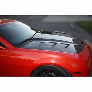 Anderson Composites ts style Carbon Fiber Hood For 2010 2013 Chevrolet Camaro