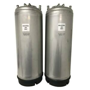 New 5 Gallon Industrial Sprayer Ball Lock Keg Set Up Two Pack Free Shipping