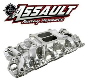 Sbc Small Block Chevy 350 Polished Dual Plane Rpm Aluminum Intake Manifold