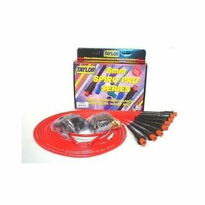 Taylor Cable 75289 Spark Plug Wires Spiro pro 8mm Red Hemi Boots Universal V8