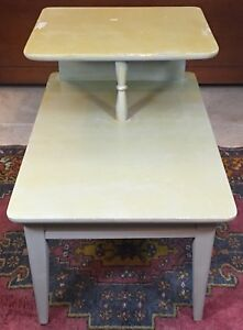 Lane Mid Century Modern End Side Accent Table 2 Tier Style 1907 Eames Vtg Danish